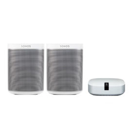 SONOS PLAY:1 Stereo Bundle mit BOOST weiß