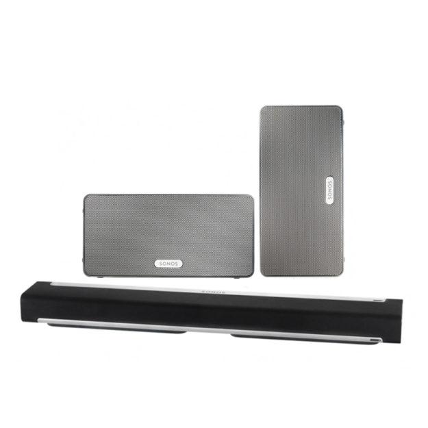 SONOS PLAY:3 PLAYBAR Surround Bundle weiß/schwarz